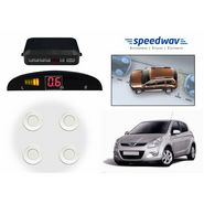 Speedwav Reverse Car Parking Sensor LED Display WHITE - Hyundai i20