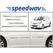 Speedwav Side Beading Chrome Plated WHITE - Hyundai Eon