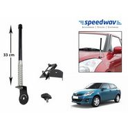 Speedwav Car Front/Rear Stylish VIP Antenna Black-Maruti Swift Dzire