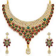 Sukkhi Glorius Gold Plated Necklace Set - Golden - 2137NADV2900