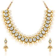 Sukkhi Bewitching & Fascinating Gold Plated Necklace Set - Golden - 2156NADV5000