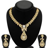 Sukkhi Stylish & Fine Gold Plated Necklace Set - Golden - 2166NADL1400
