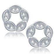 Sukkhi Fabulous Rhodium Plated Earrings - White - 209EARSDPVTS300