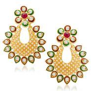 Sukkhi Blossomy Gold Plated Earrings - Golden - 6060EGLDPM500