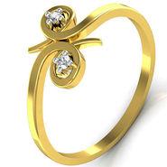 Avsar Real Gold & Swarovski Stone Payal Ring_T032yb