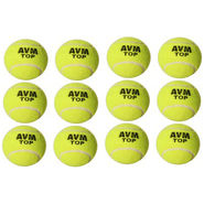 AVM Green Top Tennis Ball Pack Of 12 Pcs - Standard