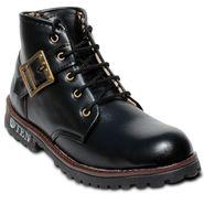 Faux Leather Black Boots -T13