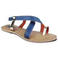 Ten Artificial Leather Blue & Beige Sandals -ts23