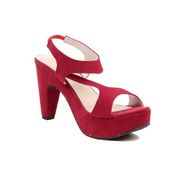 Ten Suade Leather 269 Women's Wedeges and Platforms - Red