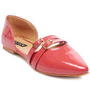 Patent Leather Pink Womens Bellies -ts10