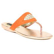 Ten Suede Orange Sandals -ts327