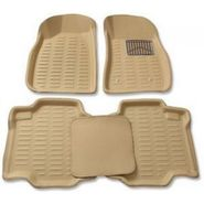3D Foot Mats for Maruti Suzuki WagonR Duo Beige Color-TGS-3D beige 102