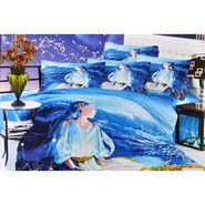 Valtellina 100% Cotton King Size 3D Double Bedsheet With 2 Pillow Covers-TK-006