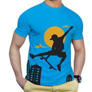 Effit Printed Casual Tshirts_Trsb0606 - Sky Blue