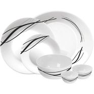 Treo Bormioli Autumn Leaf Flowblack Pack of 27 Glass Dinner set   LE-TREO-005-27
