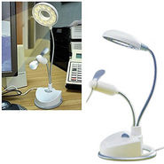 USB Lamp With Fan - White