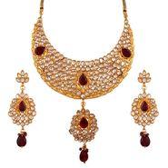Variation Splendid Maroon Kundan Necklace_Vd13294