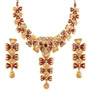 Variation Exclusive Purple Enamel Bridal Necklace Set_Vd14164