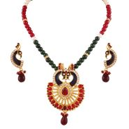 Variation Traditional Peacock Multi Semi Necklace Set By Women_Vd14210