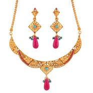 Variation Blue & Pink Necklace Set_Vd15930