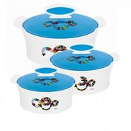 Rishabh Plast Satin Casserole Set Of 3