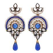 Vendee Fashion Royal Drop Earrings - Blue - 8408
