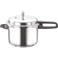 Vinod 3 Ltr Induction Friendly SS Sandwich Bottom Pressure Cooker With Lid - Silver