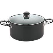 Vinod Black Pearl 300mm Sauce Pot With Tempered Glass Lid - Black
