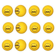 AVM Yellow Windball-20 Cricket Ball - Size Standard, Dia 6.5 cm - 12 Pcs