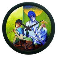 meSleep Abstract Radha Krishna Wall Clock (With Glass)-WCNW-02-12