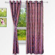 Story @ Home Purple 2 pc Window curtain-5 feet-WNR3024