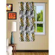 Story @ Home Black 1 pc Digital Print Window curtain-5 feet-WRT1103