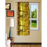 Story @ Home Yellow 1 pc Digital Print Window curtain-5 feet-WRT1105