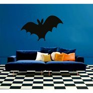 Black Bat Decorative Wall Sticker-WS-08-024