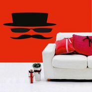 Mustachues Face Decorative Wall Sticker-WS-08-074