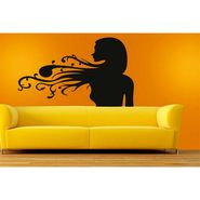 Lady Face Decorative Wall Sticker-WS-08-085