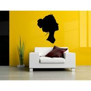 Lady Face Black Decorative Wall Sticker-WS-08-121