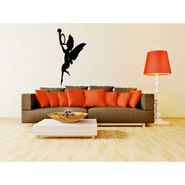 Black Butterfly Girl Decorative Wall Sticker-WS-08-202
