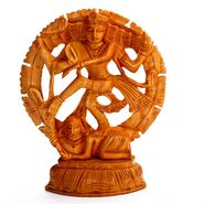 Natraj Showpiece finely Carved in Wood-WUD15329