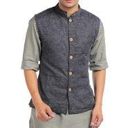 Sobre Estilo Sleeveless Nehru Jacket For Men_WV0013185 - Black
