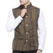 Sobre Estilo Reversible Nehru Jacket_W13827 - Black