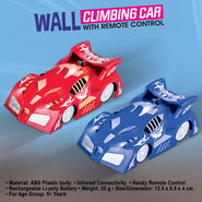 Wall Climbing Car with Remote Control - Red or Blue