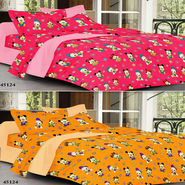 Valtellina Set Of 2 100% Cotton Double Bed Sheets With 4 Pillow Covers-YM-82-83_010
