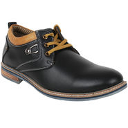 Yellow Tree Leatherette Black Casual Shoes -yet03