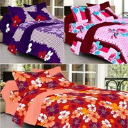 Valtellina Combo of 3 Double Bed Sheets with 6 Pillow Covers-YTD_C2_30_43_47