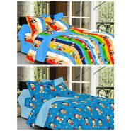 valtellina Set of 2 Double Bed Sheets with 2 Pillow Covers-Y_075-081