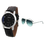 Combo of Zion Fashion 1 Wrist Watch + 1 Sunglasses_ZW 410