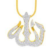 Spargz Allah Design Pendant With CZ Stone_Aip084
