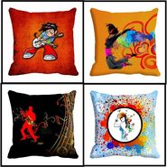 Set of 4 Creative Design Musician proformance design cushion covers-cd-4musician