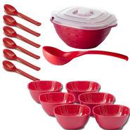 Set of 15 Cutting Edge Soup Set - Red